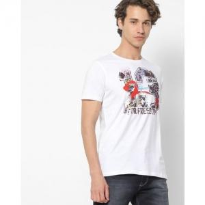 SPYKAR Graphic Print Crew-Neck T-shirt
