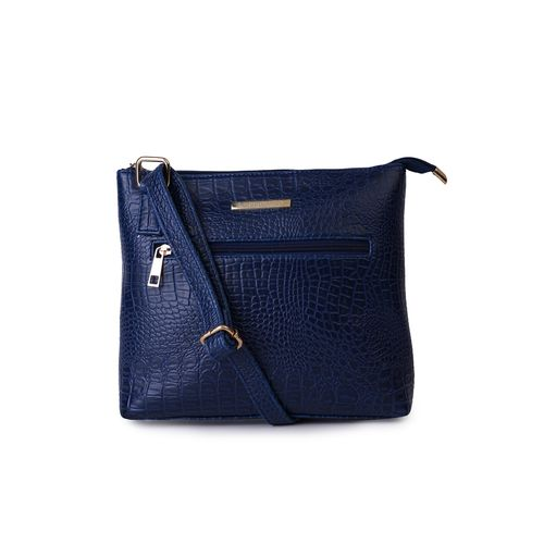Lapis O Lupo blue leatherette (pu) regular sling bag