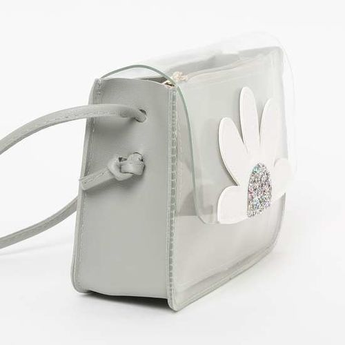 GINGER Floral Applique Sling Bag with Pouch