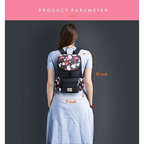 Lunar's Monica - 1 Compartment Water Resistant Stylish Fashion Ladies Backpack Girls School Bag Student Backpack Women Trendy Travel Bag