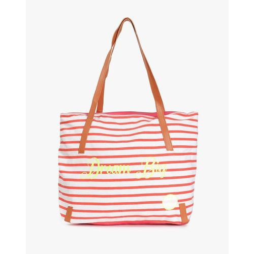 Kanvas Katha Striped Tote Bag