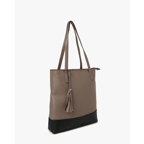 Fig Tote Bag with Tassel Charm