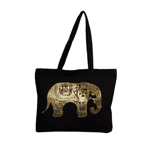 VIVINKAA Elephant Print Tote Bag