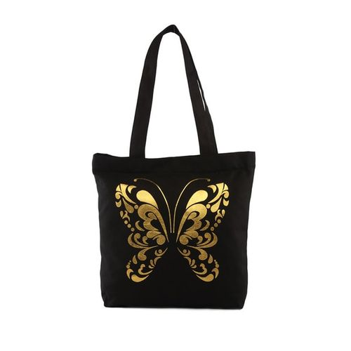 VIVINKAA Novelty Print Tote Bag with Zip Closure