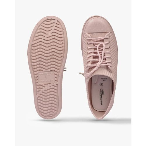 FRISBEE Textured Lace-Up Casual Shoes