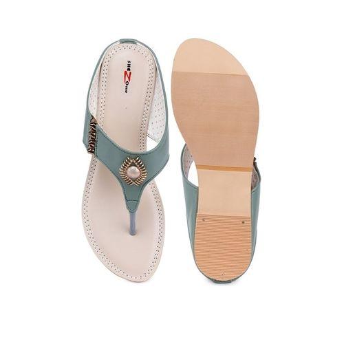 SHEZONE Embellished Flat Heel Slip-on Sandals