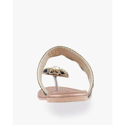 Marc Loire Embellished Open-Toe Fat Sandals