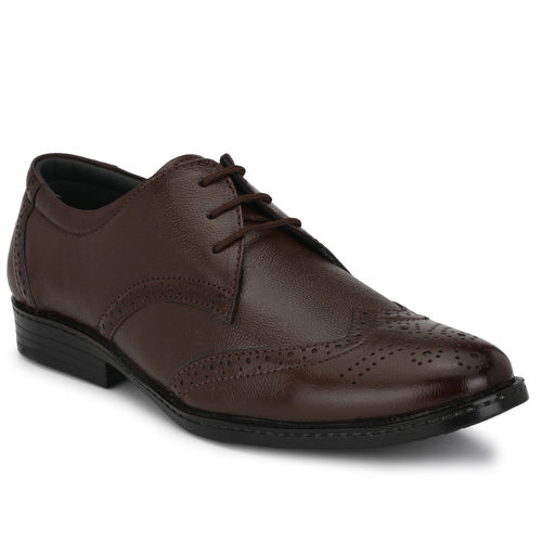 Bucik Men's Brown Leather Formal Shoes