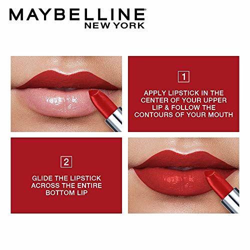 Maybelline New York Color Sensational Creamy Matte Lipstick, 630 Flaming Fuchsia, 3.9g