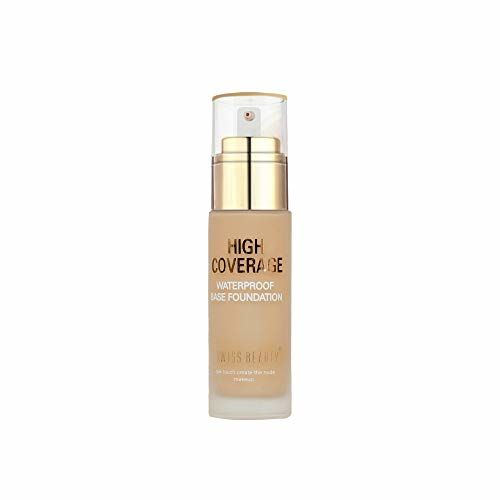 Swiss Beauty High Coverage Waterproof Base Foundation, Face MakeUp, Natural skin , 60g