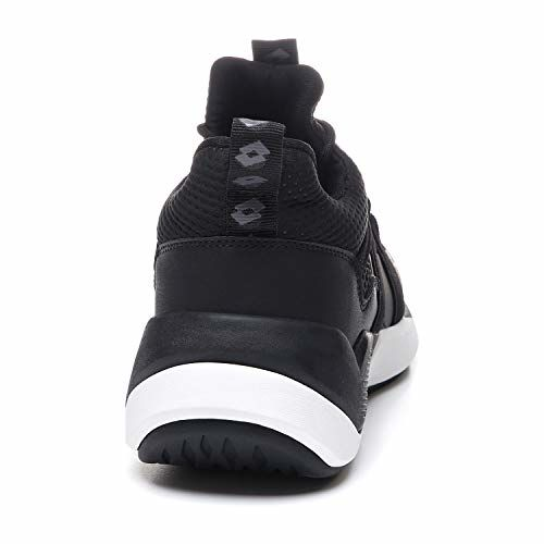 Lotto Men's Escape AMF Stripes Basketball Shoes (All Black/Cool Gray 11C)_UK/IND-10