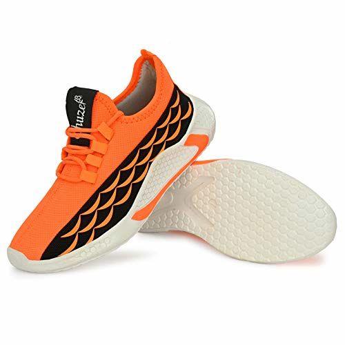 SHUZER68 Mens Sports Running Walking Shoes Orange Black