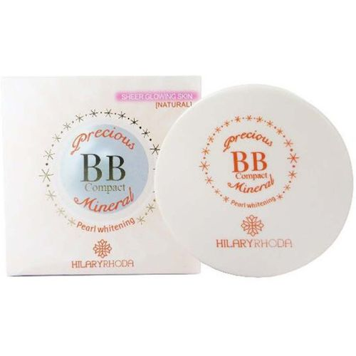 Hilary Rhoda Precious BB Compact Mineral ~ Pearl Whitening Sheer Glowing Natural Skin With Vitamin E ~ Color-04 Compact(Beige-04, 24 g)
