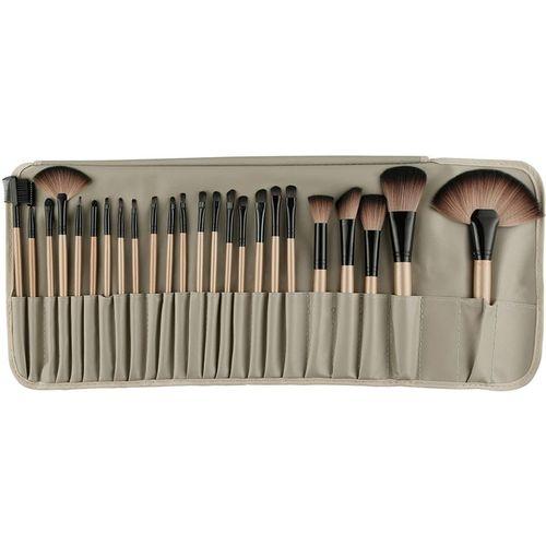 Bella Hararo Makeup Brushes 24 Piece Brown Makeup Brush Set Premium Synthetic Foundation Blending Face Powder Lipstick Eye shadow Make Up Brushes Set(Pack of 24)