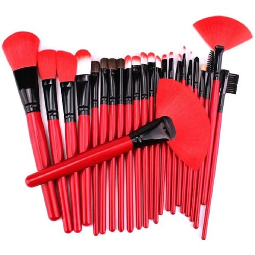 GYBest Professional 24pcs Makeup Brush Set with Leather Bag(Pack of 24)