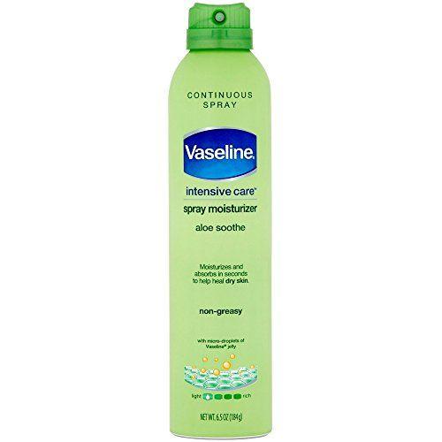 Vaseline Spray And Go Moisturizer In Aloe Fresh, 6.5 Ounce