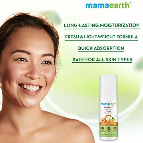 Mamaearth Vitamin C Face Milk Moisturiser with Vitamin C and Peach Moisturizer for Skin Illumination 100 ml
