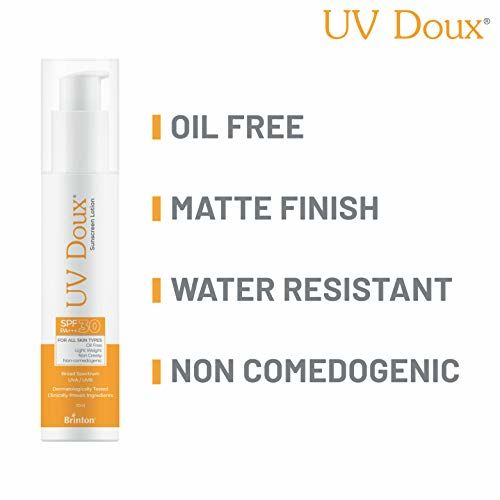 Brinton UvDoux Sunscreen Lotion with SPF 30 in Oil Free Formula| Light Weight & Non Greasy Sunscreen|Protection against UVA/UVB Rays| For All Skin Types- 50 ML