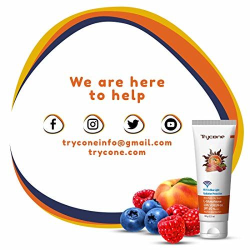 Trycone Ultra Matte Dry Touch L- Glutathione Sunscreen Gel, SPF 60 PA+++ With Wi-Fi & Blue Light Radiation Protection, 100 Gm