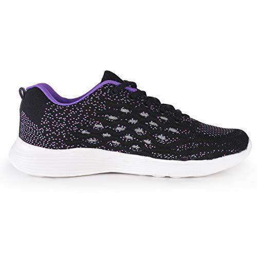 ACTION Women's Black Running Shoes (ATL-14-BLACK-PURPLE_6)