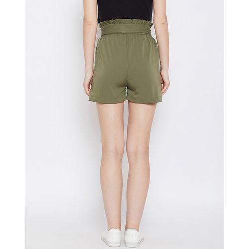 PANIT Mid-Rise Shorts with Tie-Up