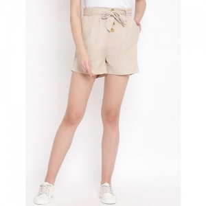 oxolloxo tie front solid shorts
