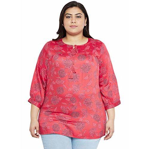 aLL Plus Size Women's Regular Fit Tunic Shirt