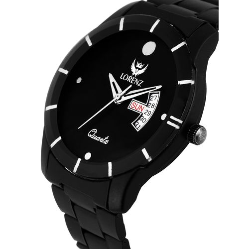lorenz day & date functioning analog watch- mk-1089a