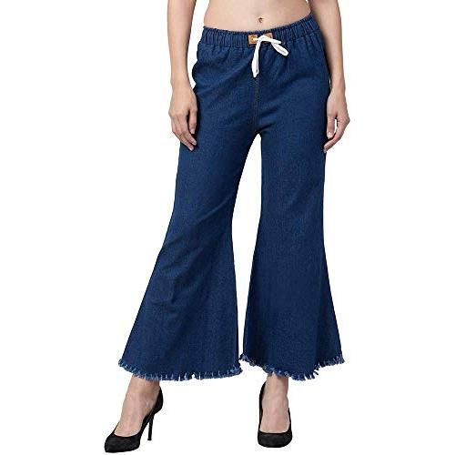 Oyshome Navy blue Women's Regular Flared Jeans
