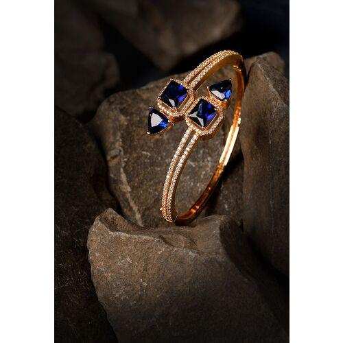 Saraf RS Jewellery blue brass bangle bracelet