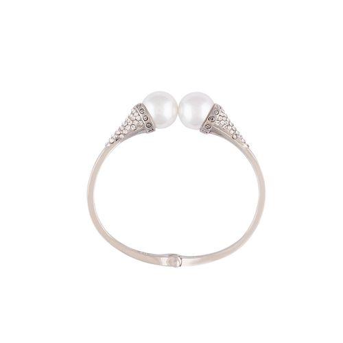 Globus silver metal bangle bracelet