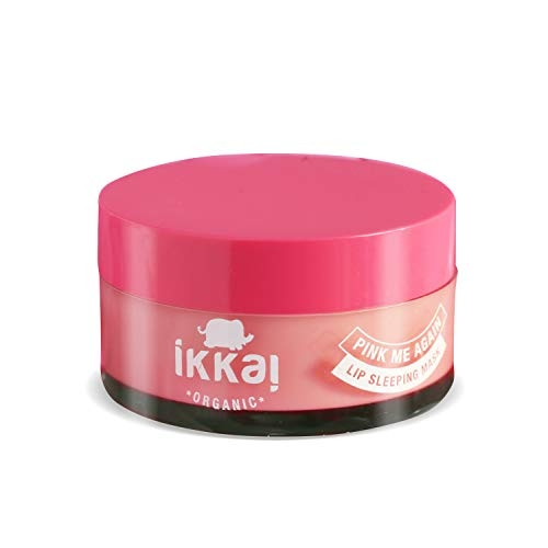 Ikkai Organic Pink Me Again Lip Sleeping Mask for De-hydrated lips, Preservative free, All skin types, 20 gm