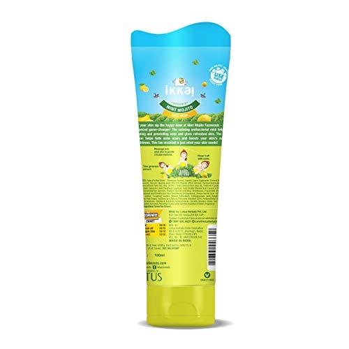 Ikkai Organic Mint Mojito Facewash for Skin cleansing, Preservative free, All skin types, 100 ml