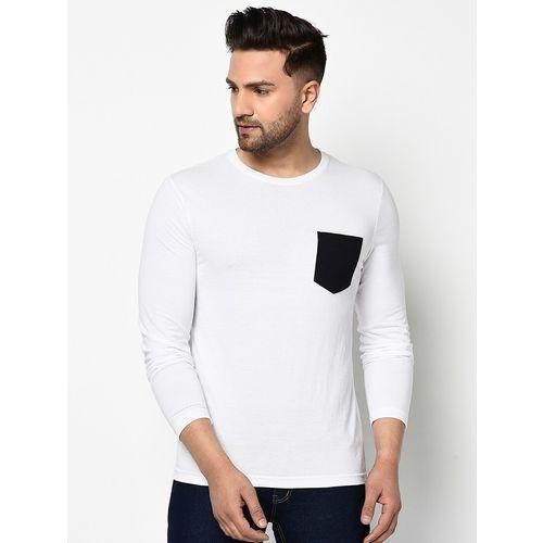 Glito white solid pocket t-shirt
