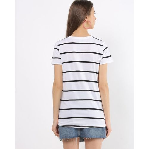 DNMX Striped Crew-Neck T-shirt