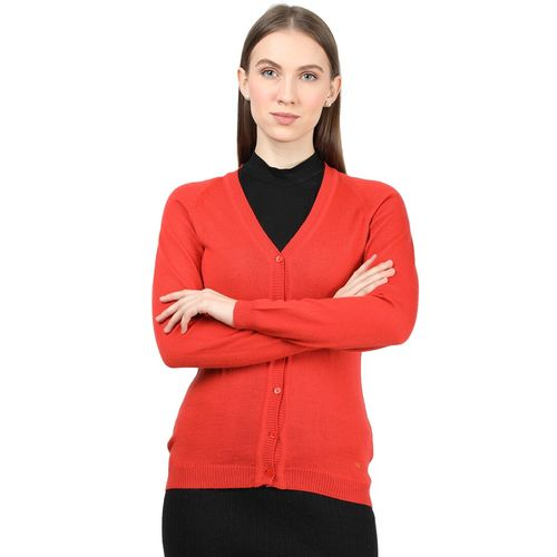 Monte Carlo red wool cardigan