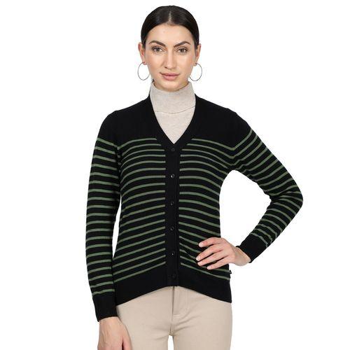 Monte Carlo v-neck striped cardigan