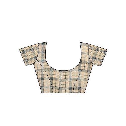 Aloki bordered printed saree with blouse