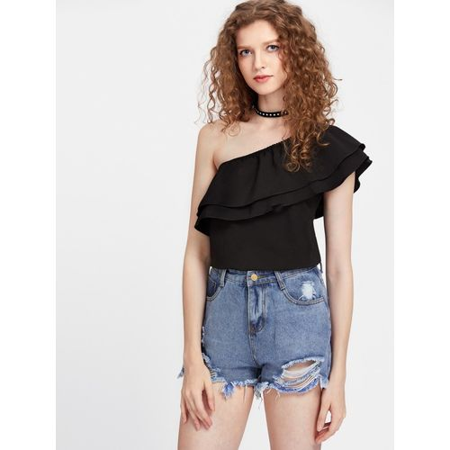 Dracht Casual Sleeveless Solid Women Black Top