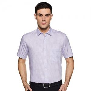 Van Heusen Purple Men's Loose Fit Formal Shirt