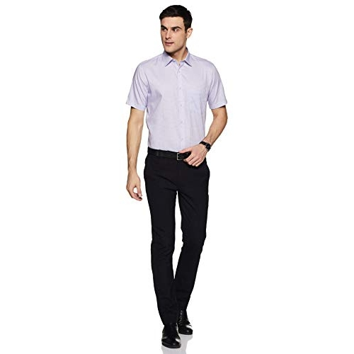 Van Heusen Purple Men's Loose Fit Formal Shirt