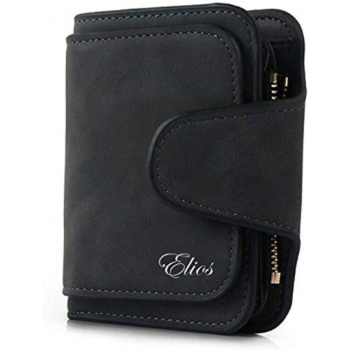 Elios Compact Soft PU Leather Ladies Small Pocket Wallet RFID Blocking | Credit Card Holder |Organizer |Purse |Wallet for Women and Girls with 6 Card Slots