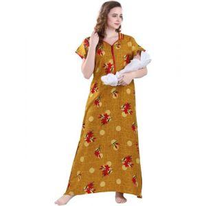 FASHIGO Women Maternity/Nursing Nighty(Yellow)
