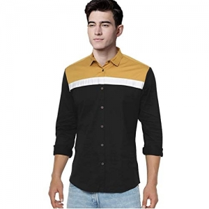 IndoPrimo Black Long Sleeves Casual Shirt