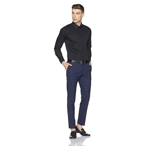 Diverse Black Cotton Solid Formal Shirt
