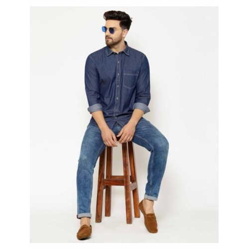 Slim Fit Shirt with Patch Pocket