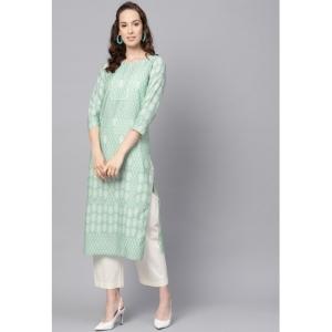 Vaamsi Green Polyester Printed Kurti(VPK1762_Green_Free Size)