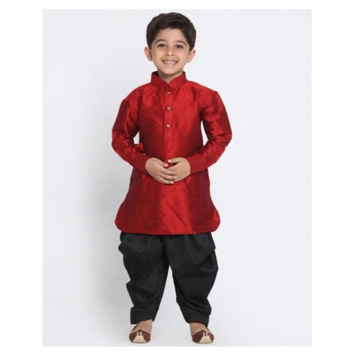 Champion Kurta Dhoti Set with Cuffed Sleeves