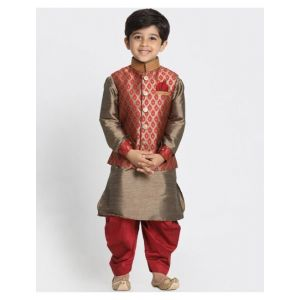 Champion Kurta Set with Block Print