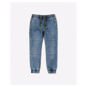 Denim Joggers with Insert Pockets